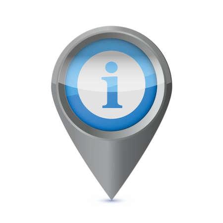 info indicator illustration design over a white background