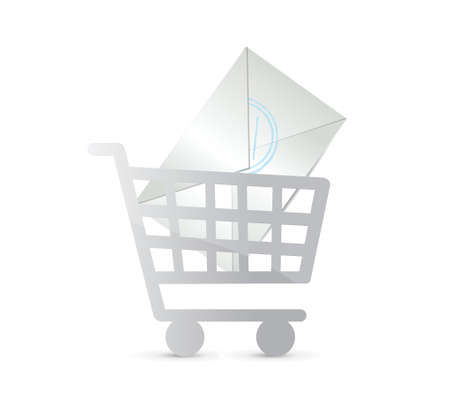 input device: mail shopping concept illustration design over white
