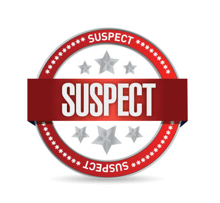 suspect: suspect seal illustration design over a white background