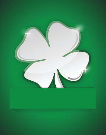 saint Patricks clover illustration design over a green background Vector