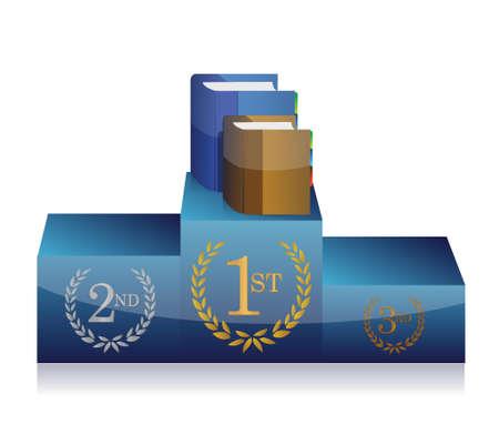 books and podium illustration design over a white background Stock Vector - 21506238