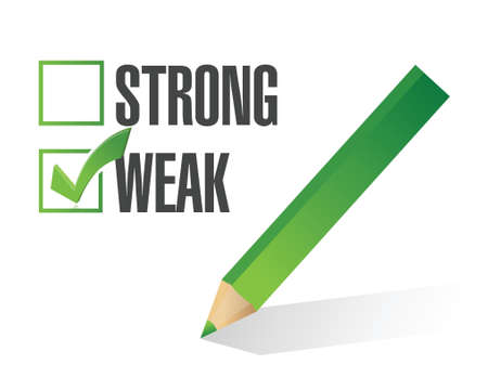 responce: weak over strong selection illustration design over white