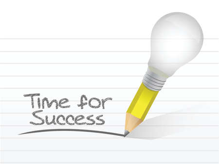 milestone: time for success written on a notepad paper