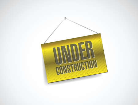 under construction banner sign illustration design over white Stock Vector - 21603114