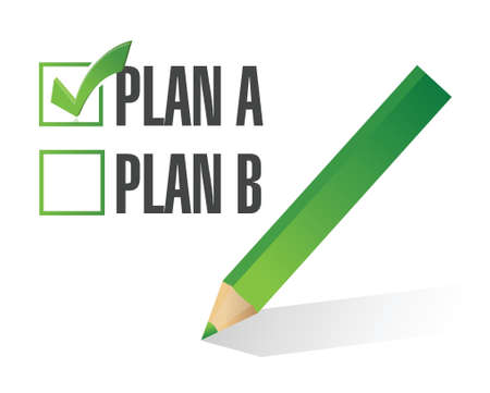 plan a selected. illustration design over a white background Vector