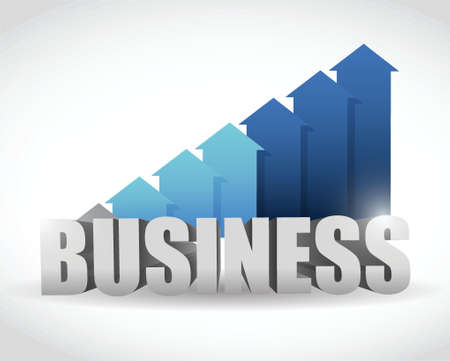 goal achievement: business arrow blue graph. illustration design over white