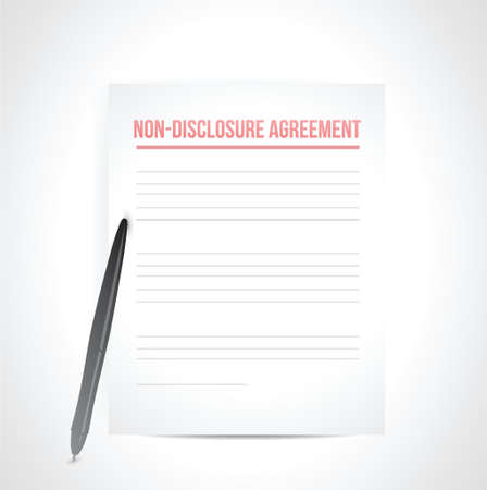 disclosure: non disclosure agreement documents. illustration design over white