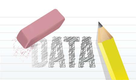 概念図デザインのグラフィック notepad のデータを消去します。  イラスト・ベクター素材