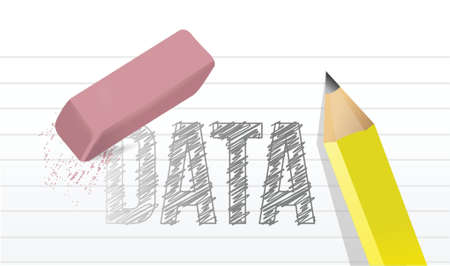 erase data concept illustration design graphic notepad Çizim