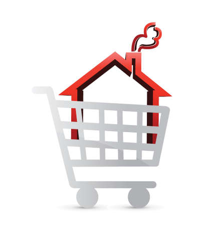 shopping for a house concept illustration design Stock Vector - 21603172