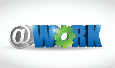 workaholic: work internet concept text illustration design over white
