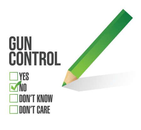 gun control: gun control survey concept illustration design over white Illustration