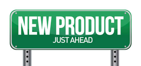 new product road sign illustration design over a white background Vector