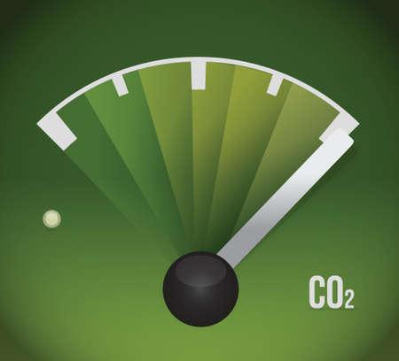 invernadero: tanque de gas co2. ilustración, diseño ecológico total sobre blanco Vectores