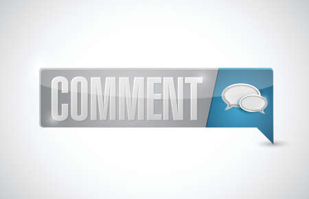 comments: comment button illustration design over a white background Illustration