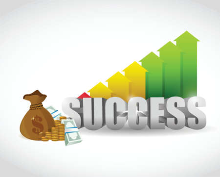 business success illustration design over a white background 矢量图像