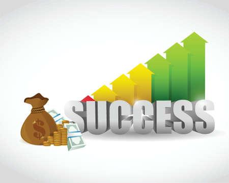 business success illustration design over a white background Vettoriali