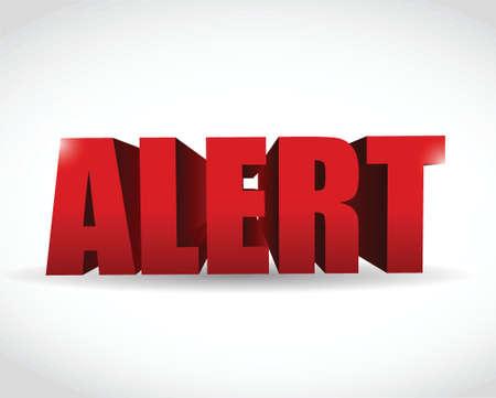 virus alert: alert 3d text sign illustration design over a white background Illustration