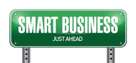 smart business road sign illustration design over white Vector