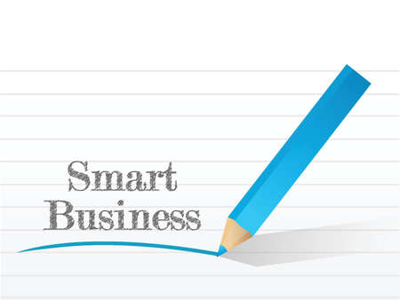 smart business written on a notepad paper illustration design over white Stock Vector - 21764088