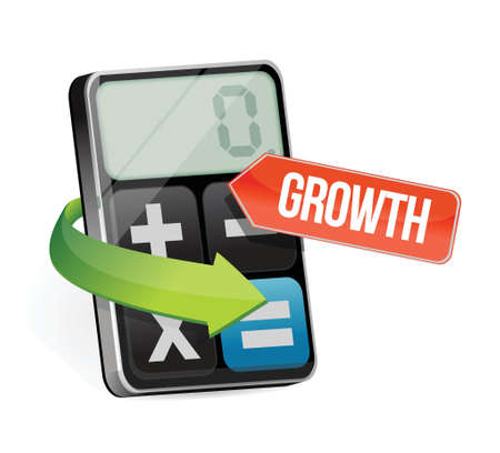 calculator and growth sign illustration design over a white background Stock Vector - 21814157