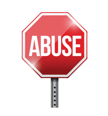 insulting: stop abuse road sign illustration design over a white background