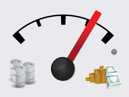 perks: gas tank prices concept illustration design over a white background Illustration