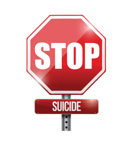stop suicide road sign illustration design over a white background Stock Vector - 21814196