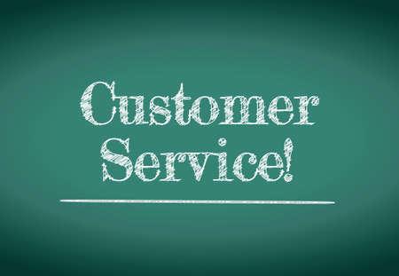 customer service illustration design over a white background
