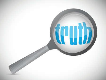 investigacion: la verdad que se investiga. concepto de dise�o de la ilustraci�n en blanco