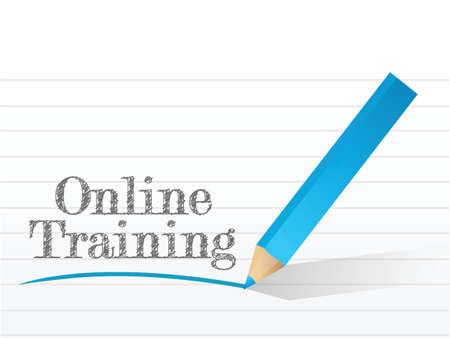 career coach: online training written on a piece of white paper Illustration