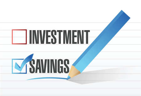 savings over investments illustration design concept over white Stock Vector - 21942268