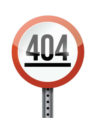 404 error road sign illustration design over a white background Stock Vector - 21942271