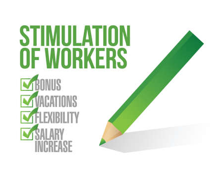 stimulus for workers checkbox list illustration design graphic Vector