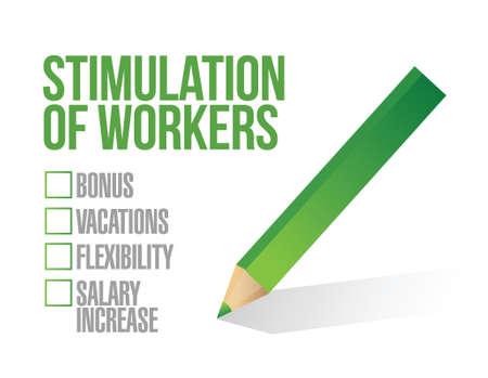 stimulus for workers checkbox list illustration design graphic Ilustrace