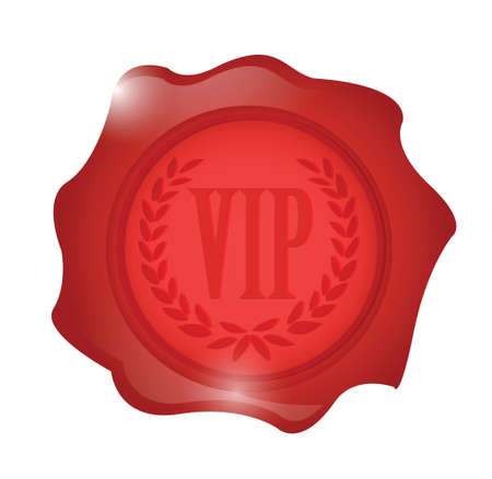 vip wax seal illustration design over a white background
