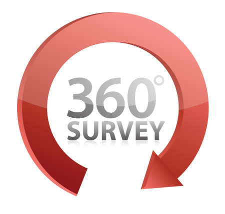 inquiry: 360 survey cycle illustration design over a white background Illustration