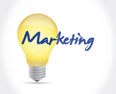 marketing ideas concept illustration design over a white background Illustration
