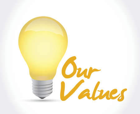 our values ideas concept illustration design over a white background Ilustração