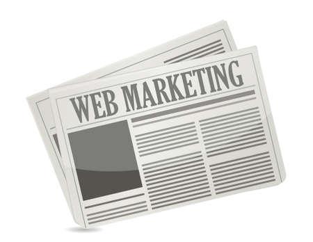 web marketing newspaper illustration design over a white background Stock Vector - 21942385