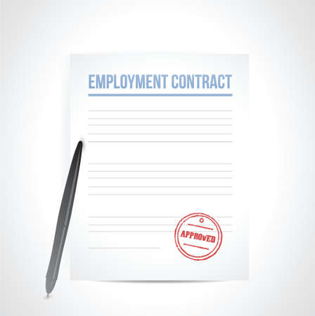 candidate: employment contrat illustration design over a white background