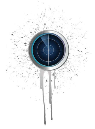 radar and ink concept. illustration design over a white background Vector