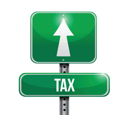 tax road sign illustration design over a white background Stock Vector - 21942405