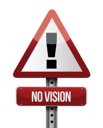 uphill: no vision road sign illustration design over a white background