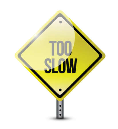 too slow road sign illustration design over white Stock Vector - 21942435