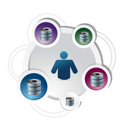 server diagram concept illustration design over a white background Stock Illustration - 21942437