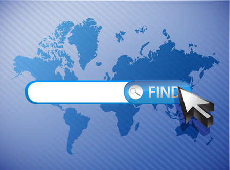 search bar blue business background illustration design