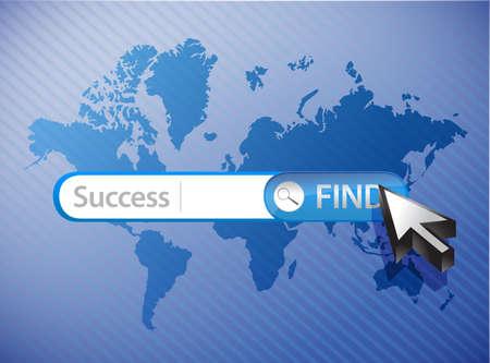zoektocht naar succes blauwe zakelijke achtergrond illustratie