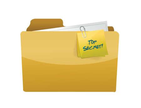 top secret folder illustration design over a white background