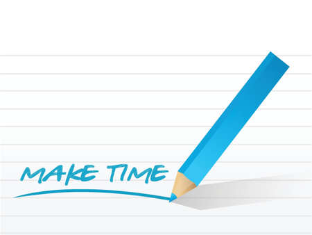 make time message written on a notepad paper